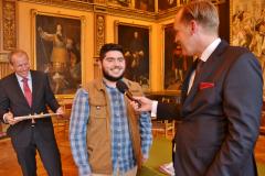 Parham Maghsoodloo being interviewed